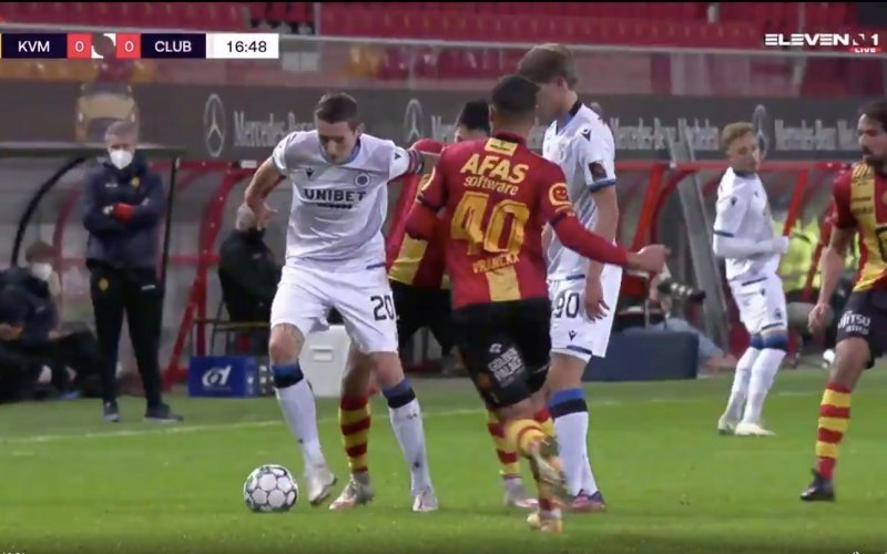 En plots doet Hans Vanaken dít in KV Mechelen-Club Brugge (VIDEO)
